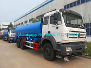 Beiben North Benz 6x6 Water Truck , 380hp Water Tanker Vehicle 18000 Liters 16000L